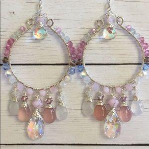 Luxe lavender pink hoops
